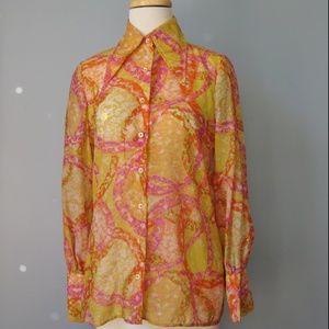 Vintage 70s Disco Button Down Shirt